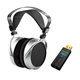 HifiMan Electronics HE-400S Planar Magnetic Over-Ear Headphones with Audioquest DragonFly Black USB DAC
