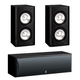 Yamaha 3.0 NS-B310 Bookshelf HD Music Speakers with NS-C210 Center Channel Speaker (Black)