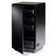 BDI Mirage 8222 Enclosed A/V Tower (Satin Black with Black Glass Top)
