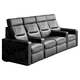 Salamander TC3 AV Basics 4-Seat with Loveseat Straight Motorized Recliner Home Theater Seating (Black Bonded Leather)