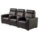 Salamander TC3 AV Basics 3-Seat Straight Motorized Recliner Home Theater Seating (Black Bonded Leather)