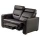 Salamander TC3 AV Basics Loveseat Motorized Recliner Home Theater Seating (Black Bonded Leather)