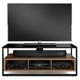 BDI Sonda 8656 Triple Wide Open TV Cabinet (Natural Walnut)