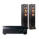 Sony STR-DH550 5.2-Channel 4K AV Receiver with Klipsch R-24F Reference Floorstanding Speakers - Pair (Black)