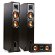 Klipsch R-26F Reference Floorstanding Speakers With R-25C Center Speaker (Black)