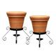 PlanterSpeakers Mini Planter Speakers with 360-Degree Sound - Pair (Terra Cotta)