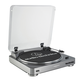 AudioTechnica AT-LP60 Fully Automatic Stereo Turntable System with Two Speeds (Silver)