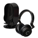 Cleer Audio DU High Definition Dual Driver Over-Ear Headphones with Heads Up Base Stand (Black)