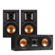 Klipsch R-14M Reference Monitor Speaker with R-25C Reference Center Speaker (Black)