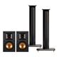 Klipsch R-14M Reference Monitor Speakers with Sanus NF24B 24