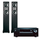 Onkyo TX-SR353 5.1 Channel A/V Receiver with HDCP2.2/HDR and Bluetooth and Polk TSi300 3-Way Tower Speakers with Two 5-1