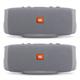JBL Charge 3 Waterproof Portable Bluetooth Speaker - Pair (Gray)
