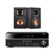 Yamaha RX-V383 5.1 Channel AV Receiver with Klipsch R-14M Reference Monitor Speakers - Pair (Black)