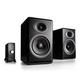 Audioengine P4 Passive Bookshelf Speakers and N22 Audio Amplifier Desktop Audio Speaker System (Black)