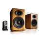 Audioengine P4 Passive Bookshelf Speakers and N22 Audio Amplifier Desktop Audio Speaker System (Natural)