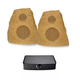 Klipsch AWR-650-SM All Weather 2-Way Speakers with PowerGate Audio Streaming Device (Sandstone)