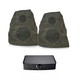 Klipsch AWR-650-SM All Weather 2-Way Speakers with PowerGate Audio Streaming Device (Granite)