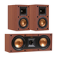 Klipsch R-14M Reference Monitor Speakers with R-25C Center Speaker (Cherry)