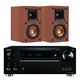 Onkyo TX-RZ710 7.2 Channel A/V Wireless Network Receiver with Klipsch R-14M Reference Monitor Speakers (Cherry)