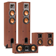 Klipsch R-24F Reference Floorstanding Speakers with R-14M Reference Monitor Speakers and R-25C Center Speaker (Cherry)
