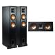 Klipsch R-26FA Dolby Atmos Floorstanding Speakers with R-25C Reference Center Speaker (Black)