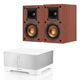 Sonos CONNECT:AMP Wireless Hi-Fi Player with Klipsch R-14M Reference Monitor Speakers - Pair (Cherry)