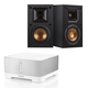 Sonos CONNECT:AMP Wireless Hi-Fi Player with Klipsch R-14M Reference Monitor Speakers - Pair (Black)