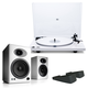 U-Turn Audio Orbit Plus Turntable with Built-In Preamplifier and Audioengine A5+ Speaker System with Speaker Stands (White)