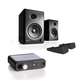 Audioengine A5+ Classic Powered Bookshelf Speakers with Stands and D1 Premium 24-Bit DAC with Headphone Amp (Black)