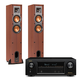 Denon AVR-X1300W 7.2 Channel 4K UHD Network A/V Receiver with Klipsch R-24F Reference Floorstanding Speakers (Cherry)