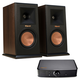 Klipsch RP-160M Reference Premiere Monitor Speakers with PowerGate Audio Streaming Device (Walnut)