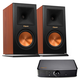 Klipsch RP-160M Reference Premiere Monitor Speakers with PowerGate Audio Streaming Device (Cherry)