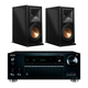 Onkyo TX-RZ710 7.2 Channel A/V Wireless Network Receiver with RP-160M Reference Premiere Monitor Speakers (Piano Black)