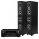 Denon AVR-X2400H 7.2 Channel Full 4K Ultra HD Network AV Receiver with Polk TSi500 High Performance Floorstanding Speakers - Pair (Black)