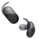 Sony WF-SP700N/L True Wireless Splash-Proof Noise-Cancelling Earbuds with Built-In Microphone (Black)
