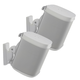 Sanus Wireless Speaker Swivel and Tilt Wall Mounts for Sonos ONE, PLAY:1, and PLAY:3 - Pair (White)