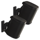 Sanus Wireless Speaker Swivel and Tilt Wall Mounts for Sonos ONE, PLAY:1, and PLAY:3 - Pair (Black)