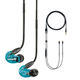 Shure SE215 Sound-Isolating Earbuds with RMCE-UNI Remote and Mic Cable for SE Earphones (Blue)