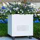 PlanterSpeakers Metropolitan Outdoor Planter Speakers with 180-Degree Sound - Pair (White)