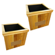 Planterspeakers North Dakota Planter Speakers 90-Degree Sound - Pair (Wood)
