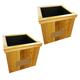 PlanterSpeakers North Dakota Planter Speakers - Pair (Wood)