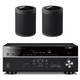 Yamaha RX-V685BL 7.2 Channel AV Receiver with WX-021BL MusicCast 20 Wireless Speakers - Pair (Black)