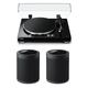 Yamaha MusicCast Vinyl 500 Turntable with MusicCast 20 Wireless Speakers - Pair (Black)