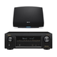 Denon AVR-X1400H 7.2 Channel Full 4K Ultra HD Network AV Receiver with HEOS 5 Wireless Streaming Speaker - Series 2 (Black)
