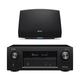 Denon AVR-X2400H 7.2 Channel Full 4K Ultra HD Network AV Receiver with HEOS 5 Wireless Streaming Speaker - Series 2 (Black)