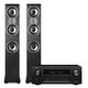 Denon AVR-X2400H 7.2 Channel Full 4K Ultra HD Network AV Receiver with Polk TSi400 Floorstanding Speakers - Pair (Black)