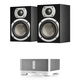 KLH Ames 2-Way Bookshelf Speakers (Black) with Sonos CONNECT:AMP Wireless Amplifier for Streaming Music