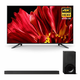 Sony XBR-65Z9F 65 MASTER Series BRAVIA 4K HDR UHD TV and HT-X9000F 2.1-Channel Dolby Atmos Sound Bar with Subwoofer