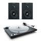 Dynaudio Xeo 2 Wireless Bookshelf Speakers and U-Turn Orbit Plus Turntable with Built-In Preamplifier (Black)