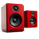 Audioengine A2+ Premium Powered Wireless Desktop Speakers - Pair (Red)